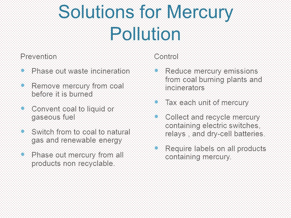 Solutions for Mercury Pollution
