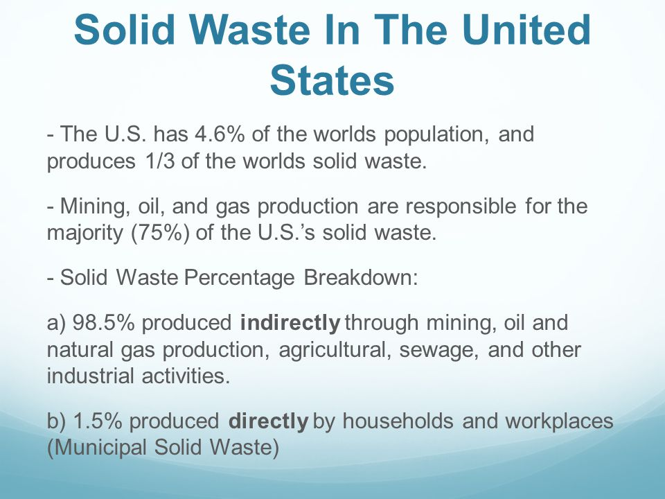 Solid Waste In The United States