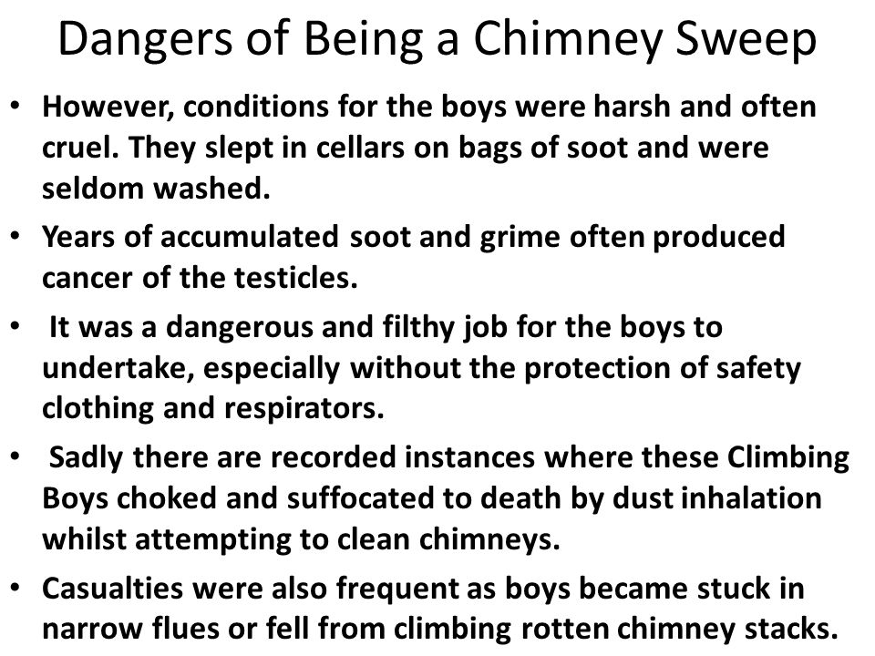 Dangers of Being a Chimney Sweep