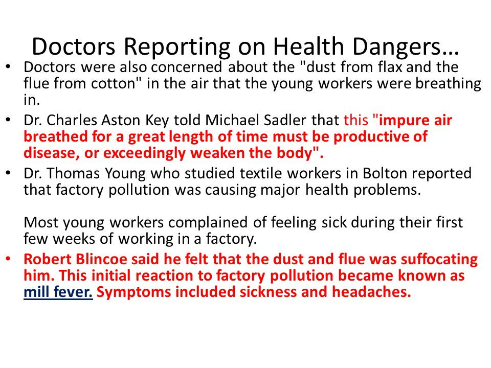 Doctors Reporting on Health Dangers…