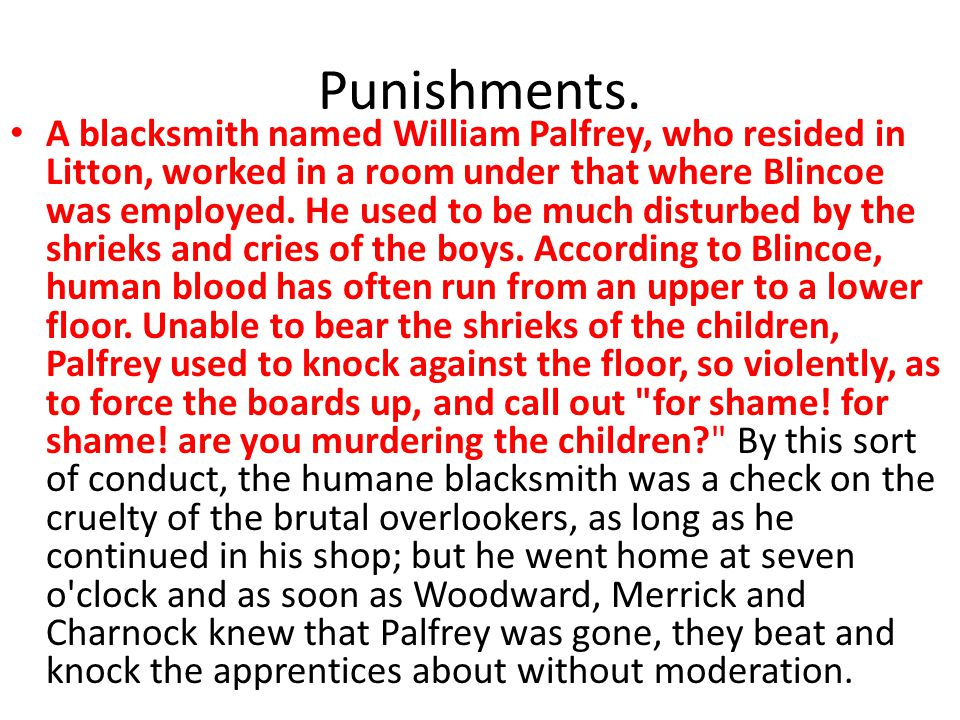 Punishments.