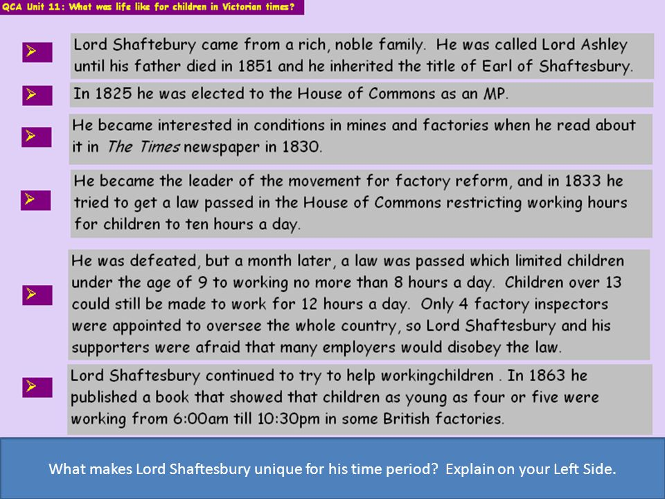 What makes Lord Shaftesbury unique for his time period