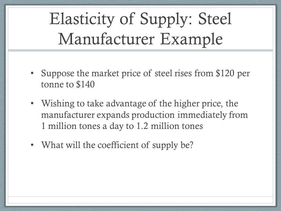 Elasticity of Supply: Steel Manufacturer Example