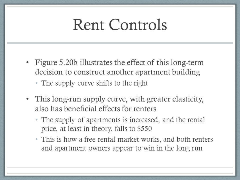 Rent Controls Figure 5.20b illustrates the effect of this long-term decision to construct another apartment building.