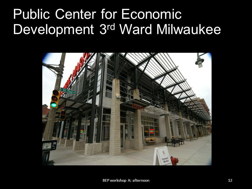 Public Center for Economic Development 3rd Ward Milwaukee