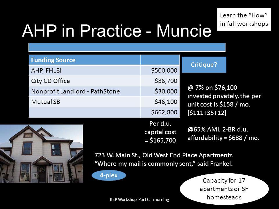 AHP in Practice - Muncie