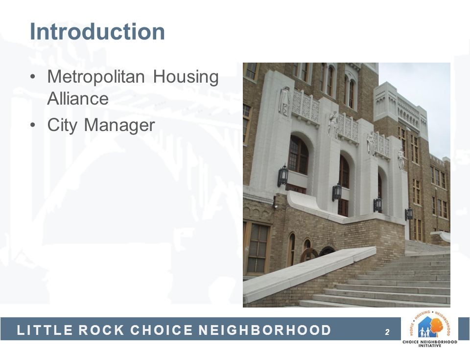 Introduction Metropolitan Housing Alliance City Manager
