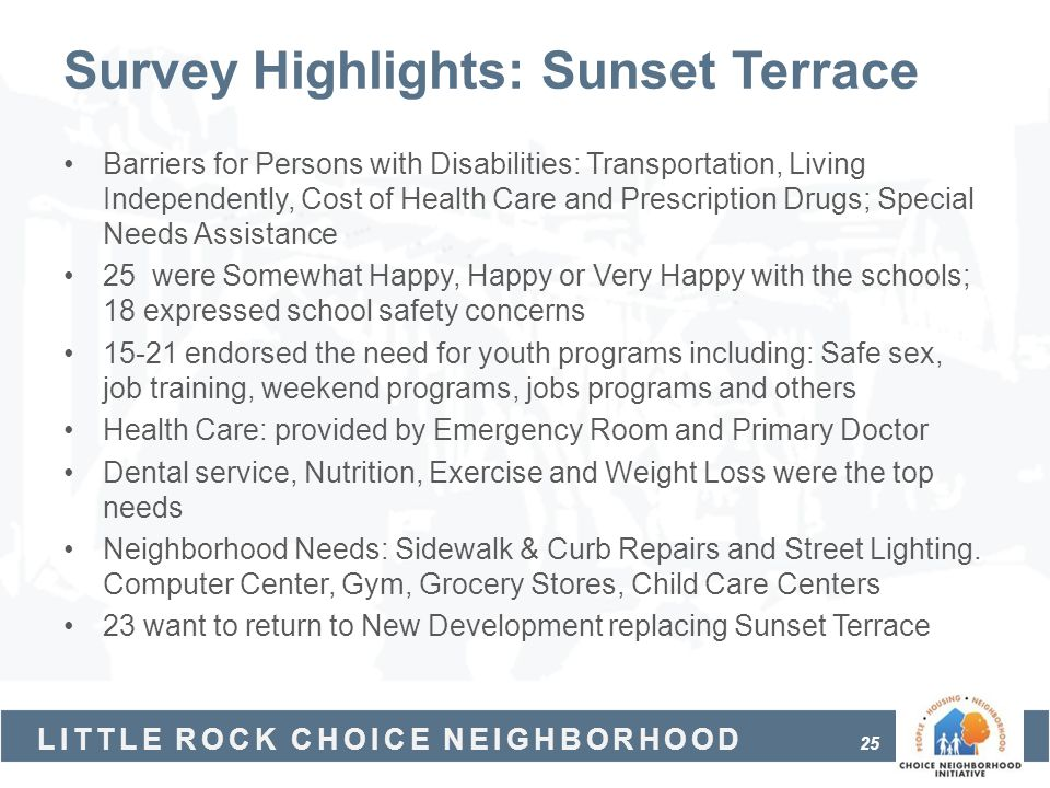 Survey Highlights: Sunset Terrace