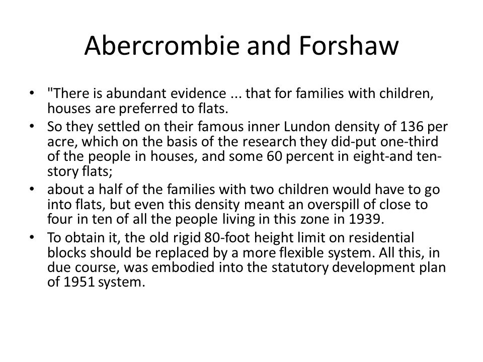 Abercrombie and Forshaw