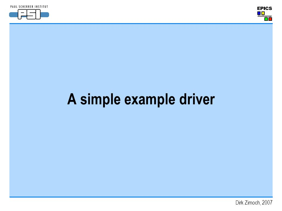 A simple example driver
