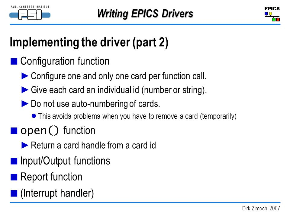 Implementing the driver (part 2)