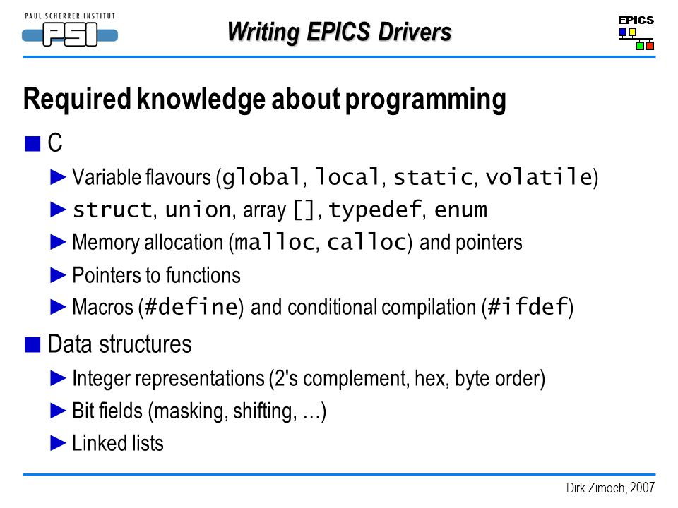Required knowledge about programming