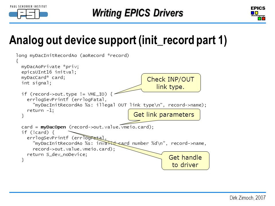 Analog out device support (init_record part 1)