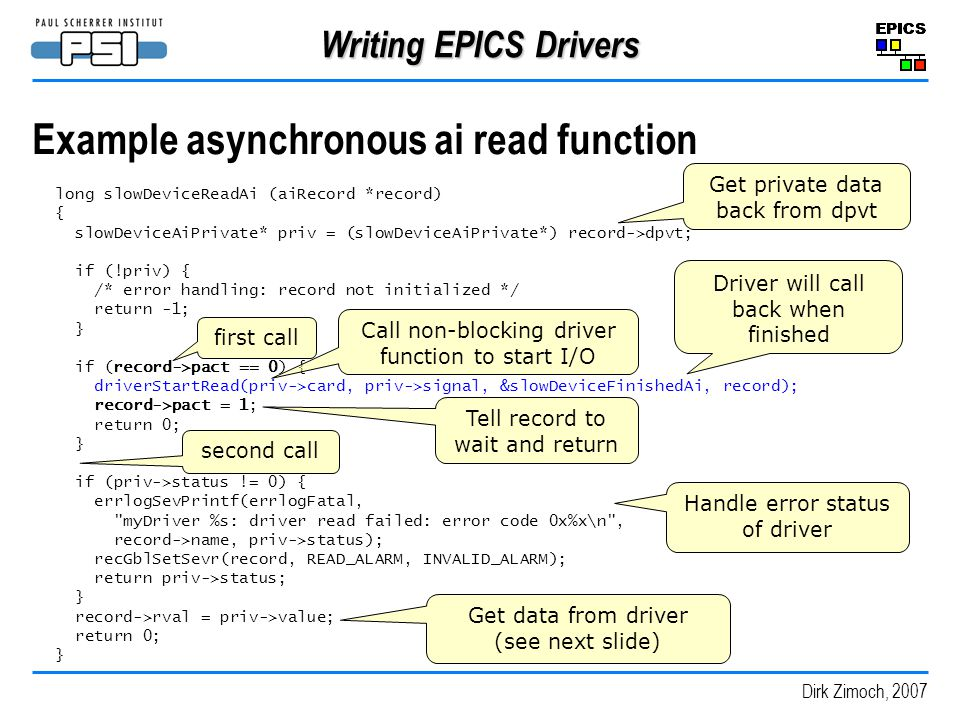 Example asynchronous ai read function