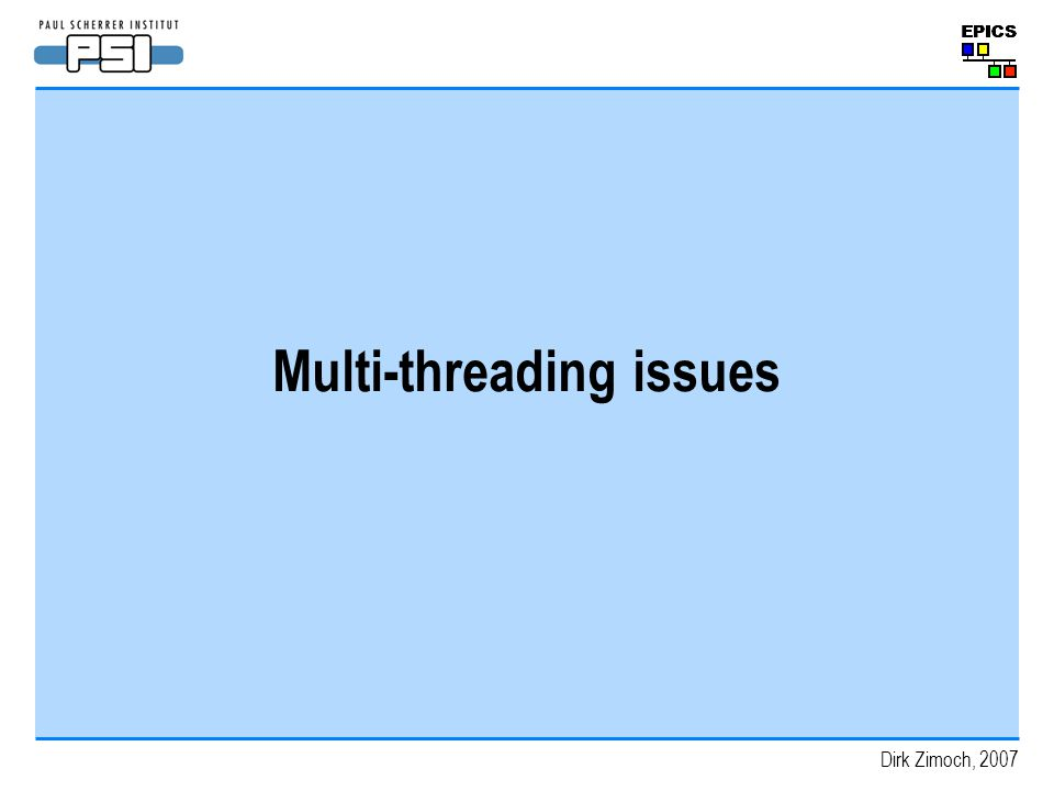 Multi-threading issues