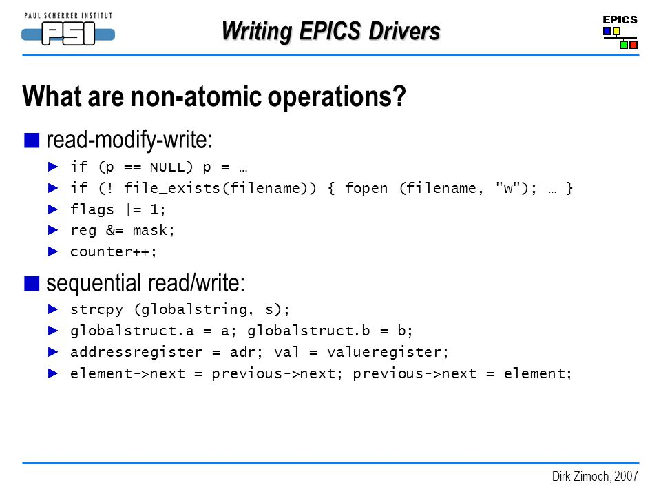 What are non-atomic operations