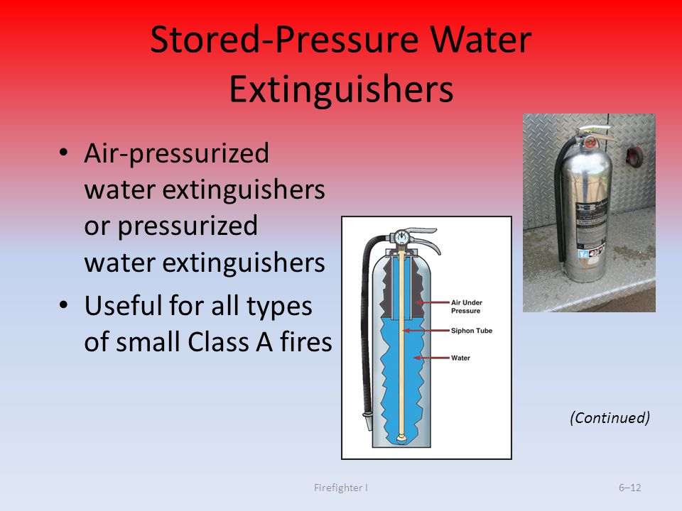 Stored-Pressure Water Extinguishers
