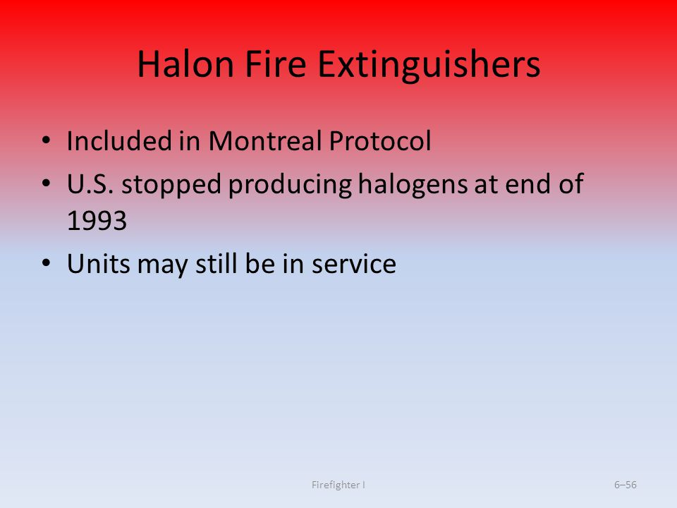 Halon Fire Extinguishers