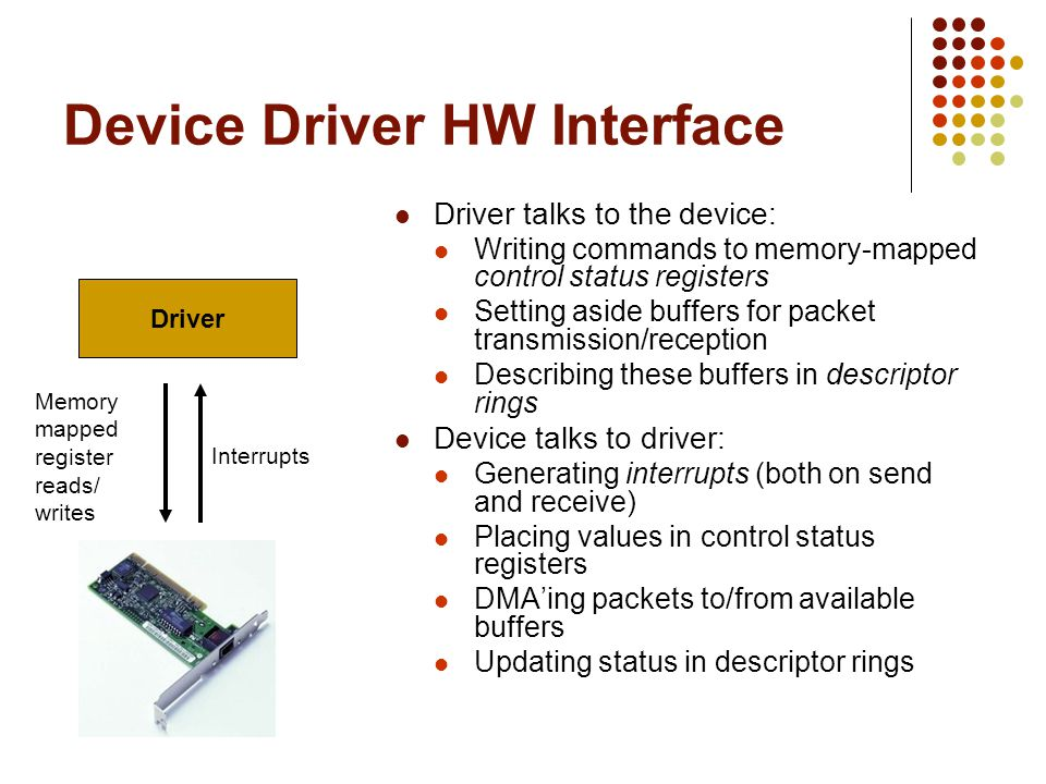 Device Driver HW Interface