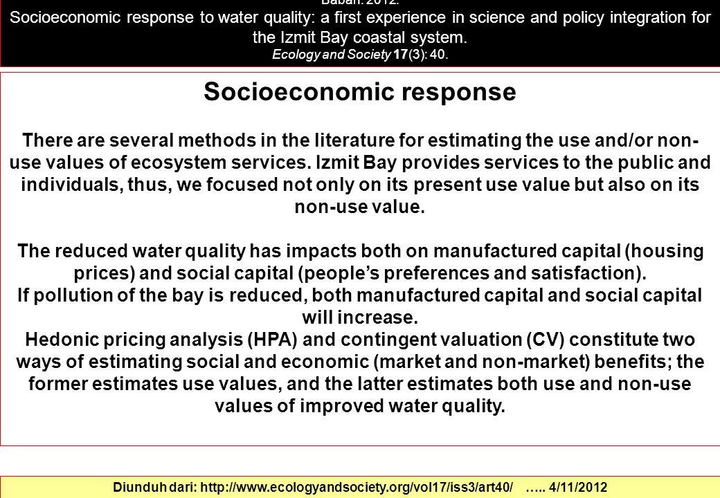 Socioeconomic response