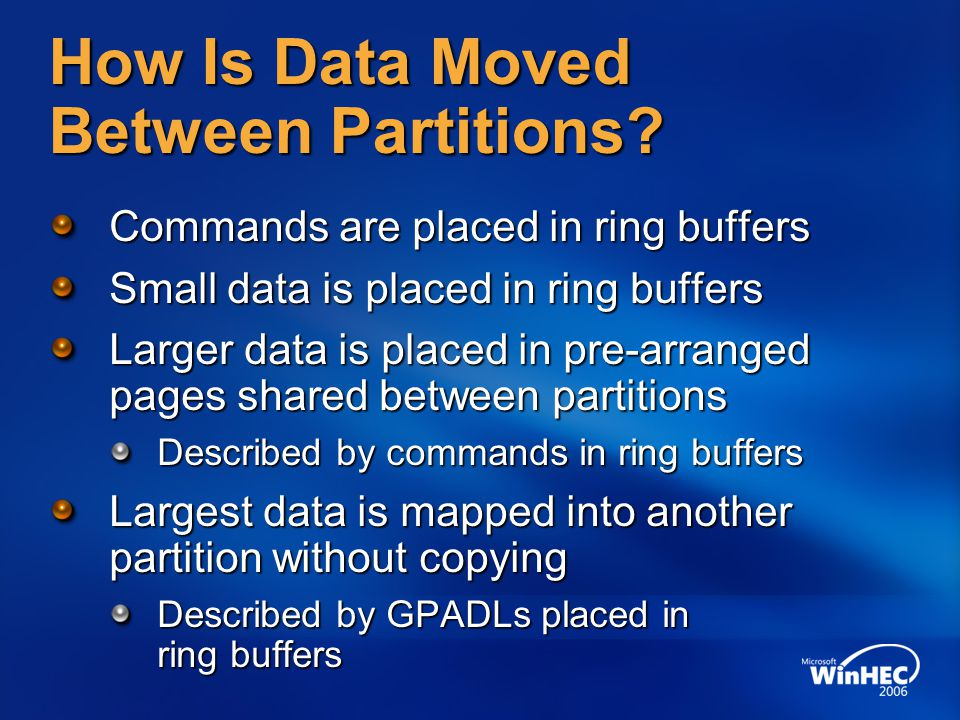 How Is Data Moved Between Partitions