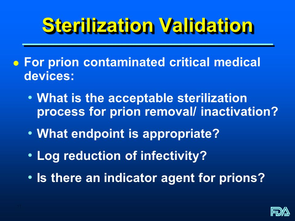 Sterilization Validation