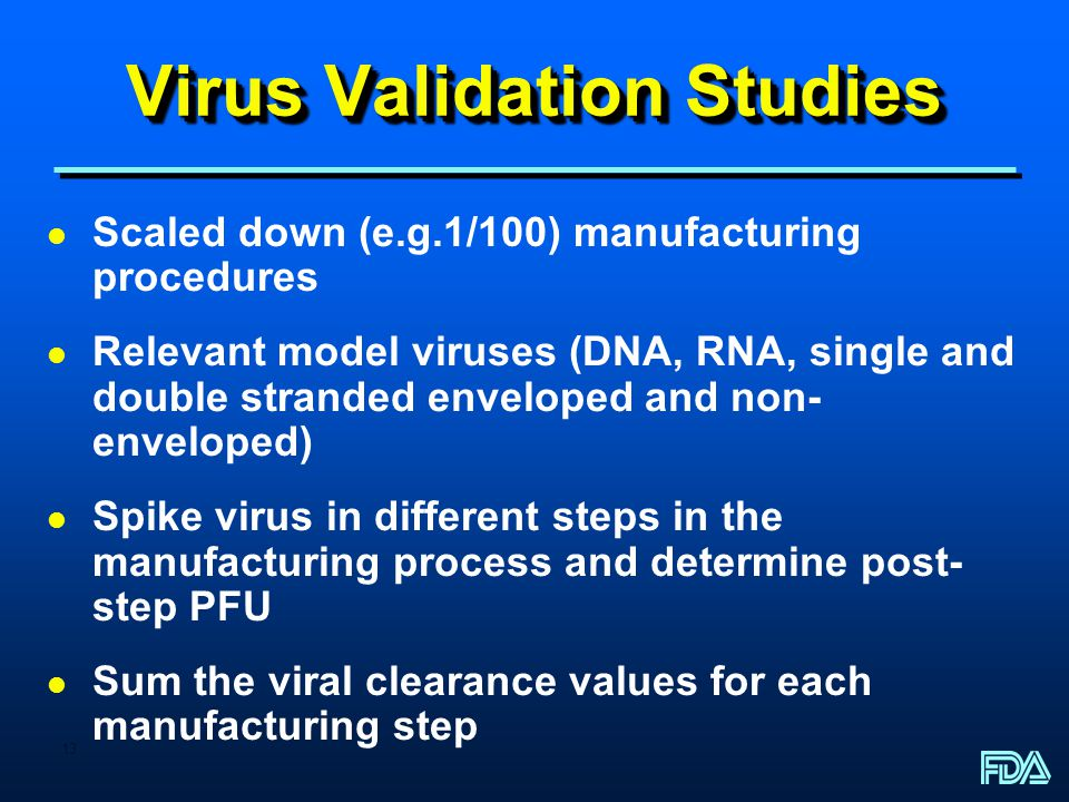 Virus Validation Studies