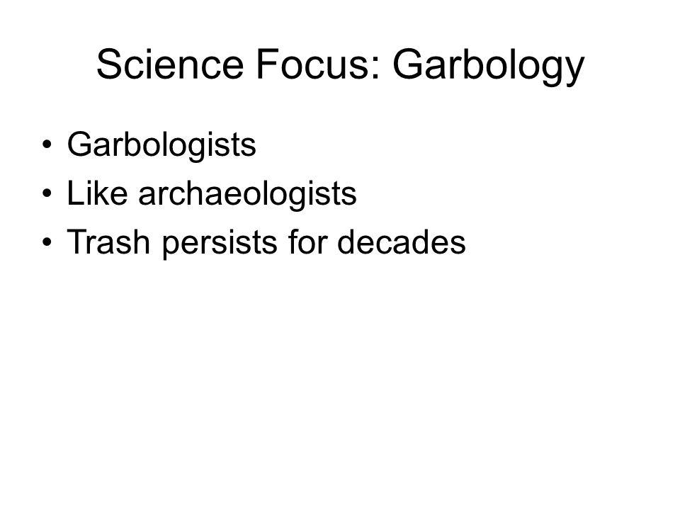 Science Focus: Garbology