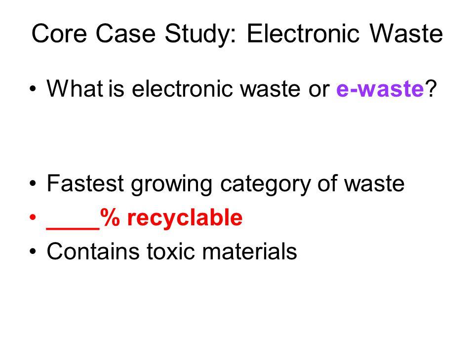 Core Case Study: Electronic Waste