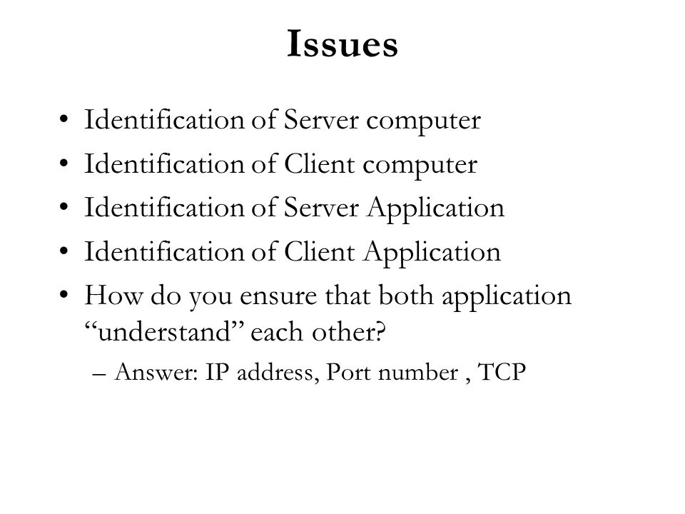 Issues Identification of Server computer
