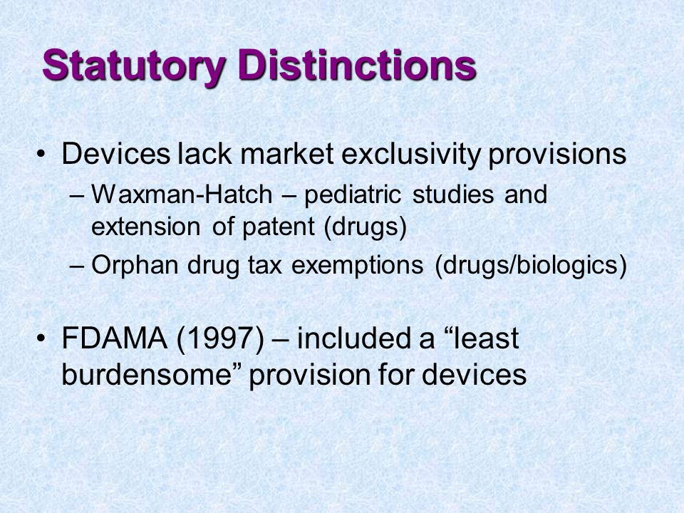 Statutory Distinctions