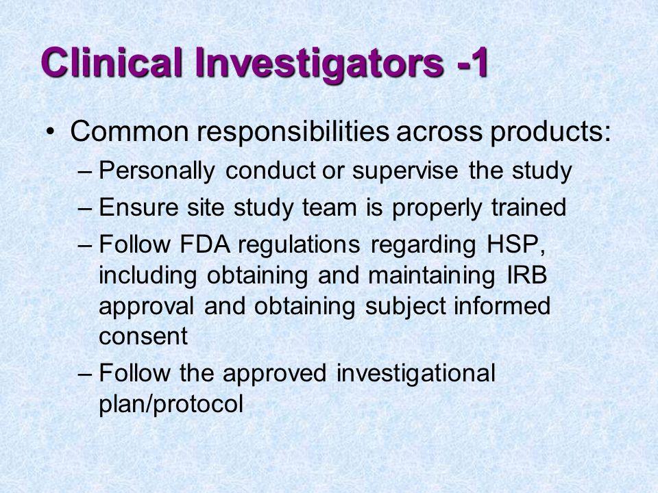 Clinical Investigators -1