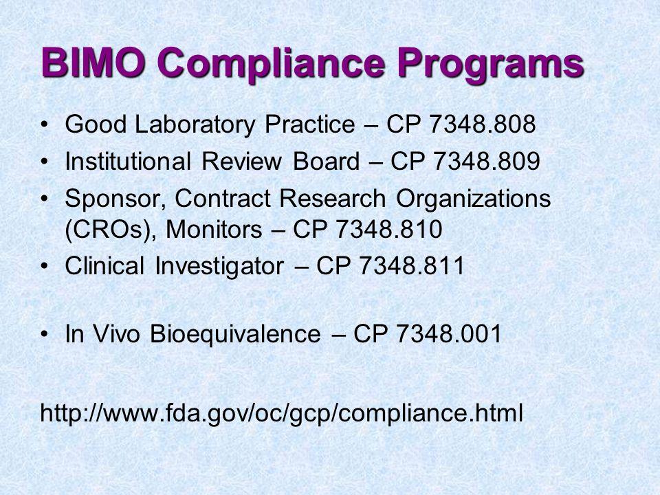 BIMO Compliance Programs
