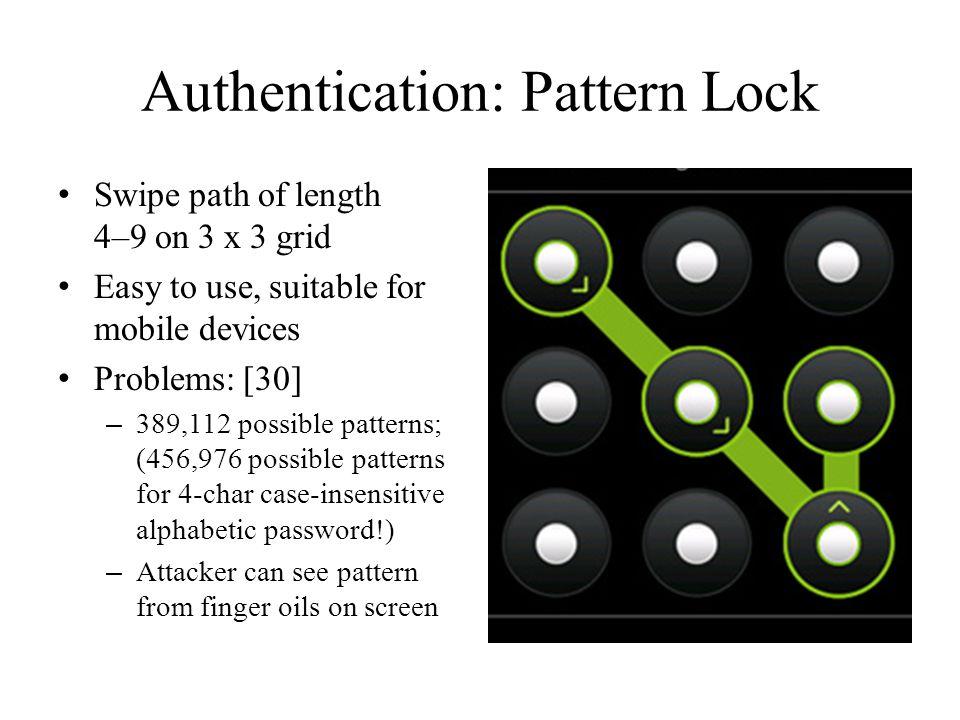 Authentication: Pattern Lock