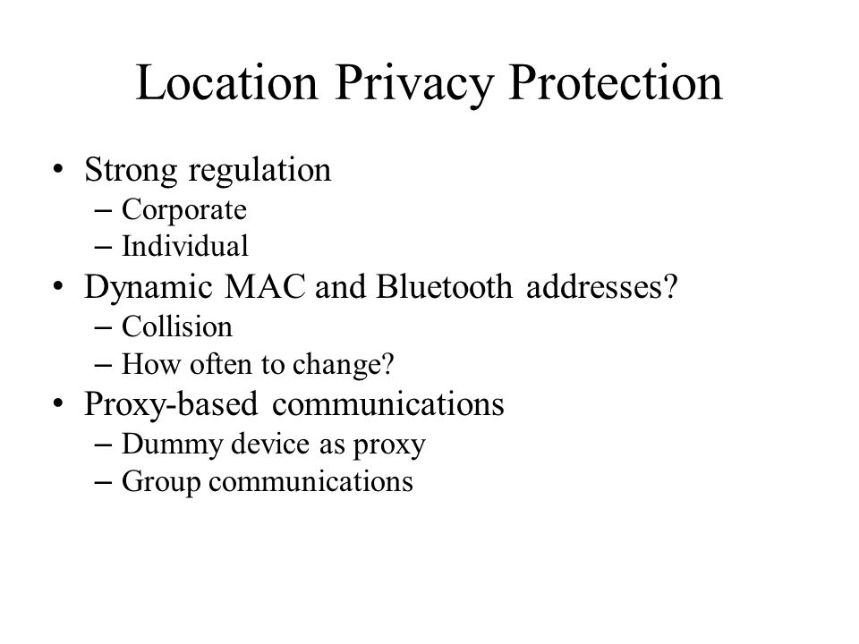 Location Privacy Protection