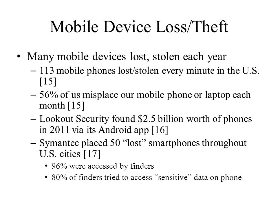 Mobile Device Loss/Theft