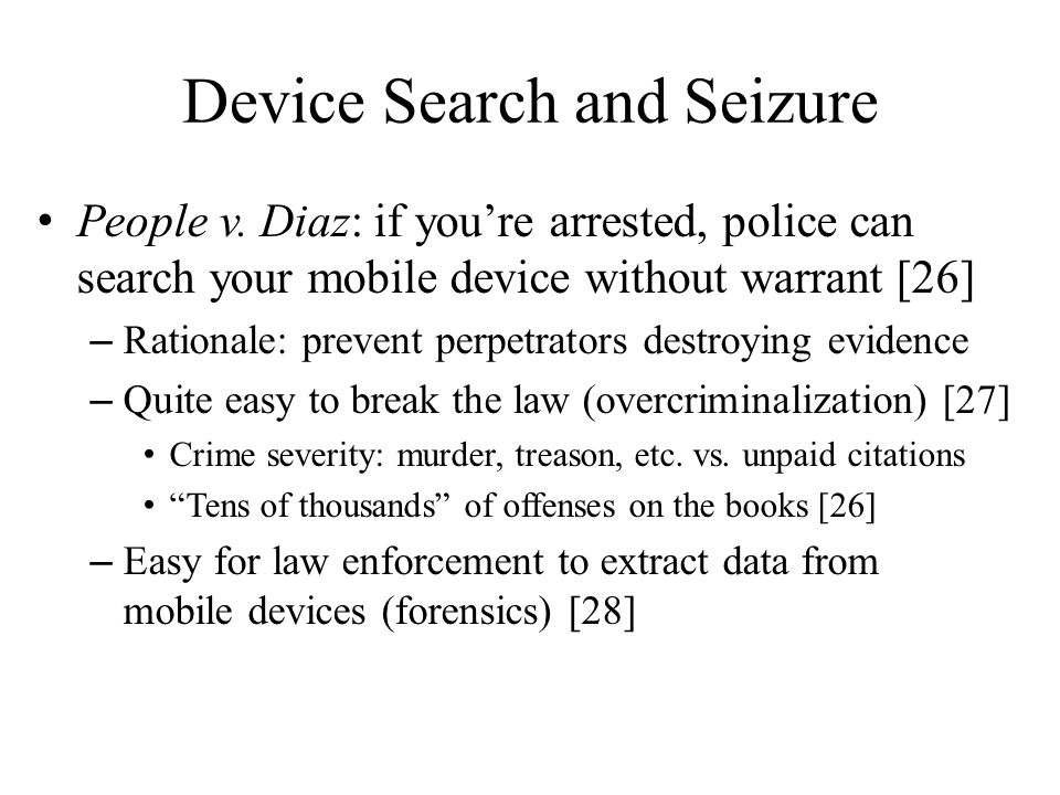 Device Search and Seizure