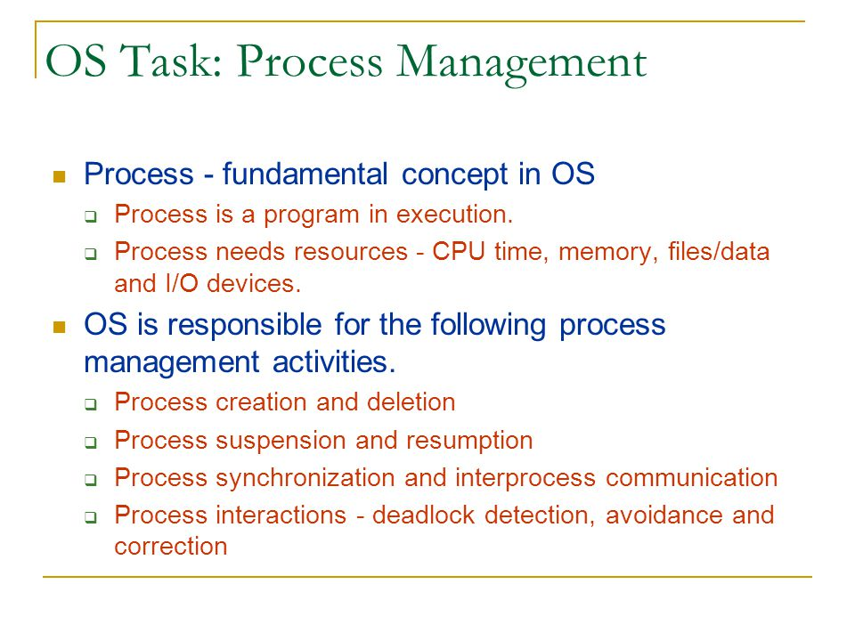 OS Task: Process Management
