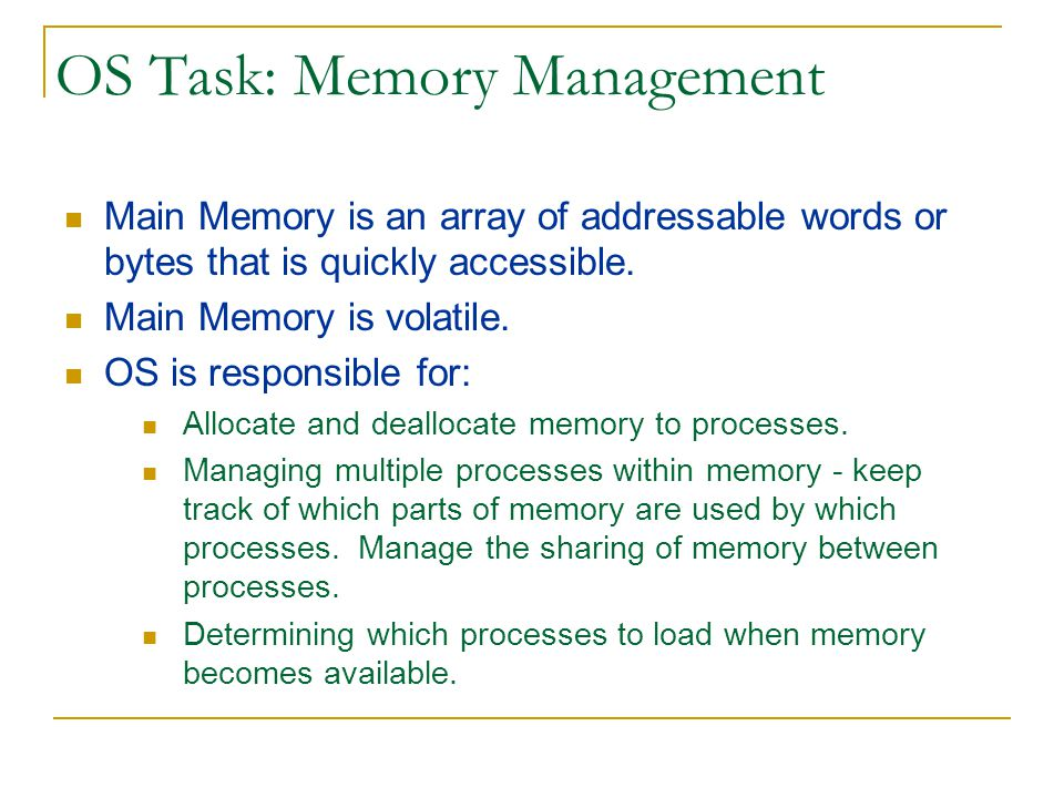 OS Task: Memory Management