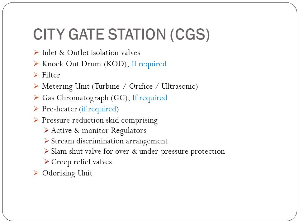 CITY GATE STATION (CGS)