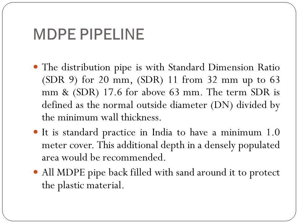 MDPE PIPELINE