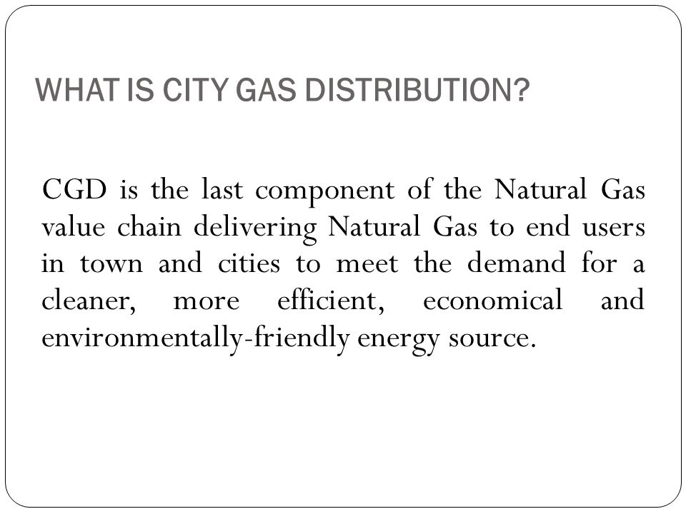 WHAT IS CITY GAS DISTRIBUTION