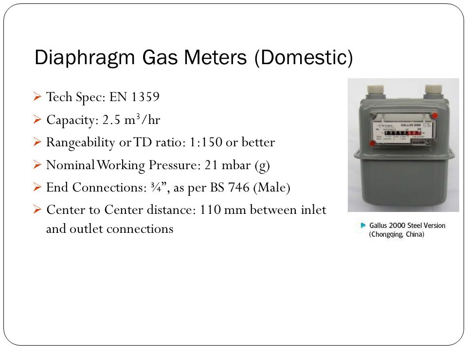 Diaphragm Gas Meters (Domestic)