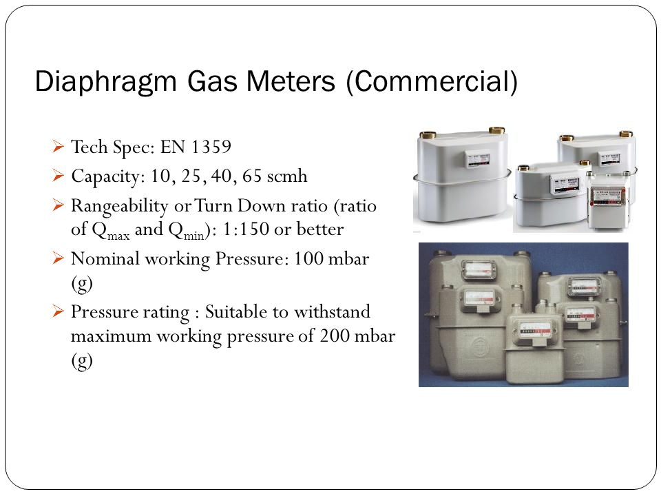 Diaphragm Gas Meters (Commercial)