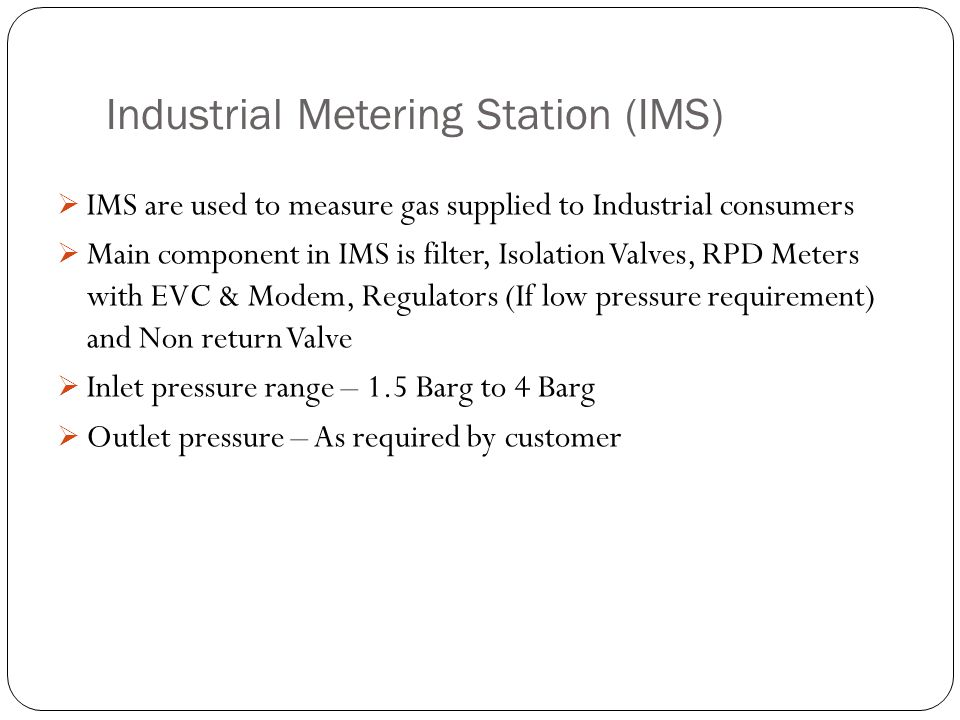 Industrial Metering Station (IMS)