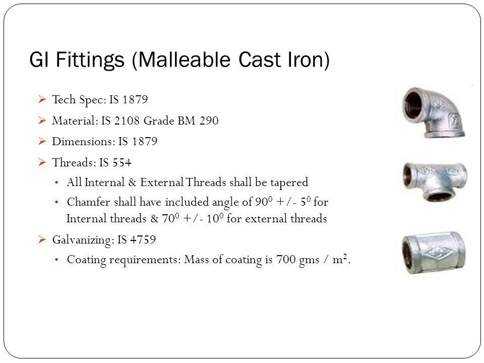GI Fittings (Malleable Cast Iron)
