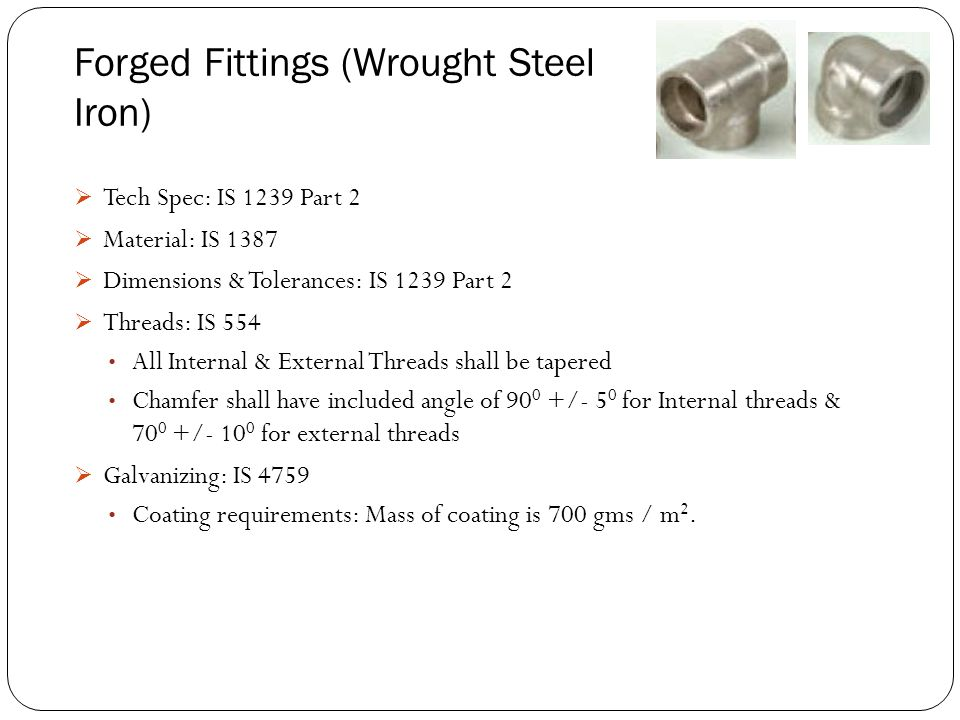 Forged Fittings (Wrought Steel Iron)