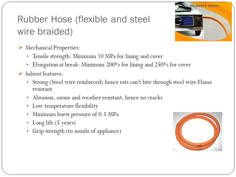 Rubber Hose (flexible and steel wire braided)