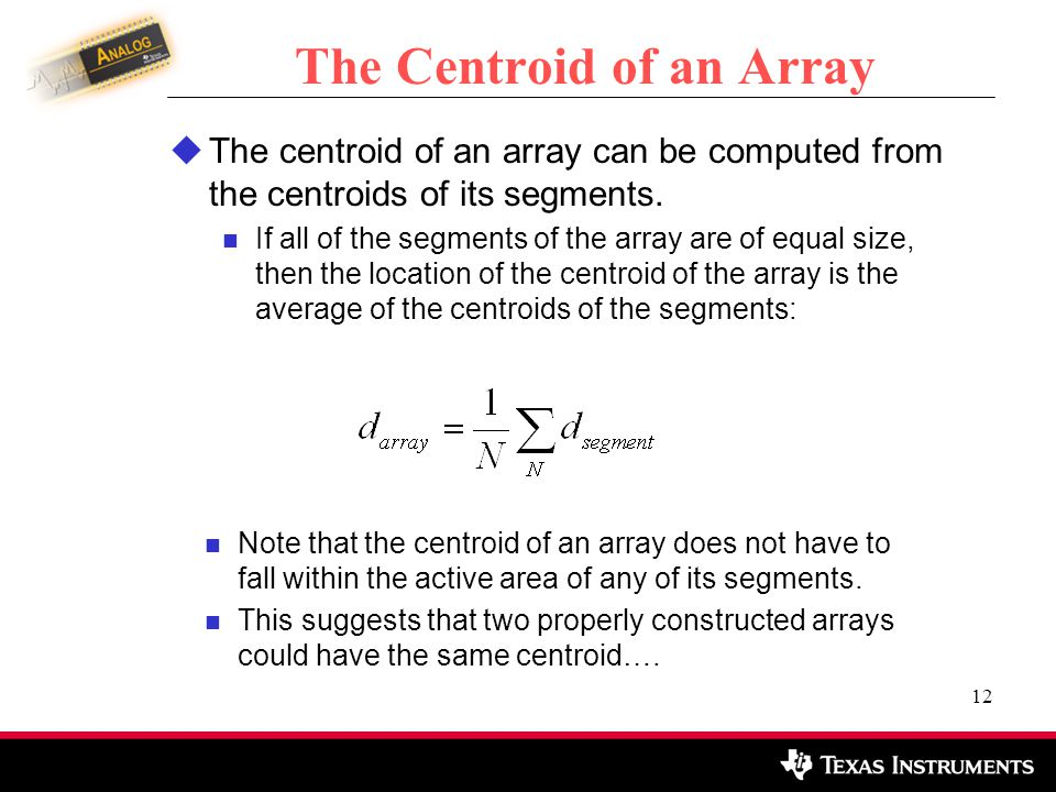 The Centroid of an Array