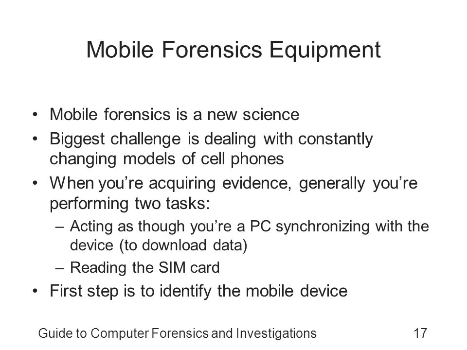 Mobile Forensics Equipment